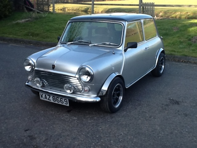 alfie s dream car now its on his drive classic mini equinox a limited edition with only. Black Bedroom Furniture Sets. Home Design Ideas