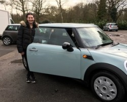 This lucky MINI is off to live with India….2012 MINI One Automatic 1.6 Sport Ice Blue Low Miles 26K