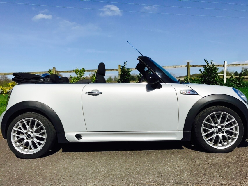 anne has chosen this 2012 mini cooper s convertible in white silver with 17k miles mrs mini. Black Bedroom Furniture Sets. Home Design Ideas