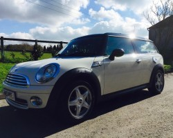 Paula & Mark chose this 2008 MINI Cooper Clubman 1.6 Pepper White With Chili Pack