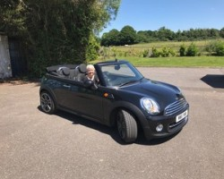 Pia has chosen this 2011 MINI Cooper Convertible in Midnight Black