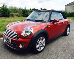 2010 MINI Cooper Convertible in Spice Orange with Low Miles 45K & Heated Half Leather Sports Seats