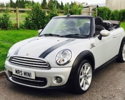 Faye has chosen this 2012 Limited Edition MINI Cooper Convertible Highgate in White Silver with HUGE SPEC