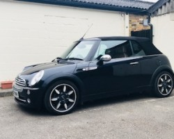 2007 / 57 MINI Cooper Sidewalk Convertible in Astro Black