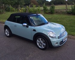 Great Friends are having this 2014/64 MINI One Convertible in Ice Blue – so Mrs MINI will get to see her often!