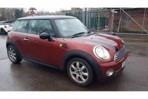 "2008 MINI Cooper In Nightfire Red with Chili Pack & Low Miles for his Age – yes """"Mr Copper the Cooper"""""