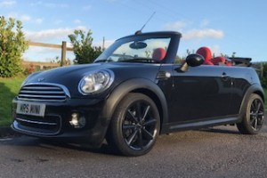 2012 MINI Cooper Convertible AUTOMATIC with Bespoke Red Leather Interior