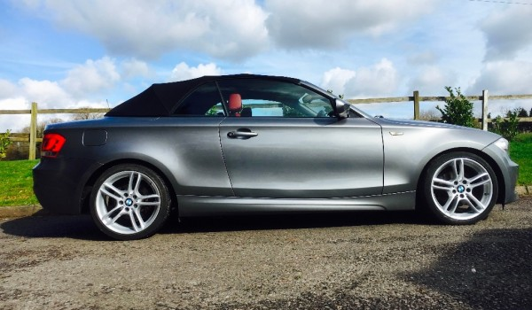 Melissa chose this 2011BMW 1 Series 2.0 120d M Sport Convertible with Full Red Leather Interior