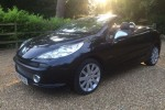 """Amy has chosen this 2008 Peugeot 207 1.6 16v """"""""ELLE"""""""" Convertible In Black with Baby Pink Quilted Leather Seats"""