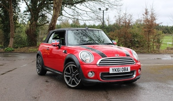 Jasmine has chosen this 2011 / 61 MINI Cooper Convertible with Chili Pack in Chili Red with Low Miles & Full Service History