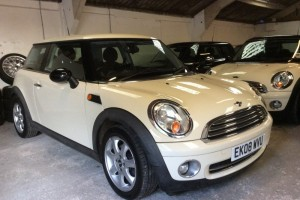 2008 MINI One 1.4 In Pepper White with Half White Leather