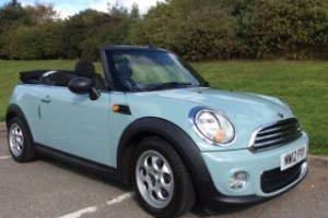 2012 MINI One Convertible in Ice Blue with Low miles & called Chelsea