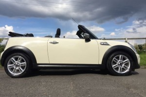 2011 MINI Cooper Convertible AUTOMATIC with Chili Pack In Pepper White