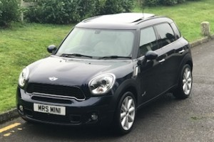 2012 MINI Cooper S All 4 Countryman In Cosmic Blue with HUGE SPEC – LITERALLY HUGE SPEC – SUNROOF, NAV, CREAM LEATHER HEATED SEATS