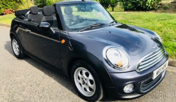 2012 MINI One Avenue Convertible in HIGHCLASS GREY (rare colour) with PEPPER PACK