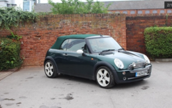 2004 MINI Cooper Convertible in British Racing Green with Full Leather Sports Seats