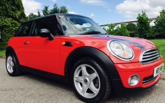 2009 MINI COOPER with Chili Pack in Chili Red with FUNKY INTERIOR THAT WE LOOVE!