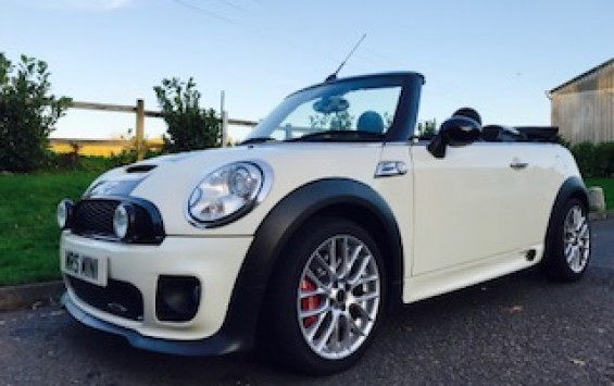 MY59JCW is a 2009 MINI JOHN COOPER WORKS Convertible in Pepper White – Just 19K miles