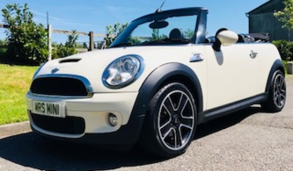 2010 MINI Cooper S Convertible In Pepper White with Full Black Lounge Leather Heated Sports Seats