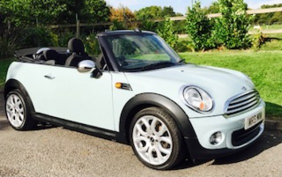 2011 MINI One Convertible in Ice Blue with Full Service History