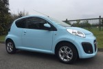 Emily's Going to past her test in this. 2013 Citroen C1 1.0 VTR+ 3 Door In Baby Blue