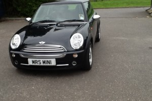 "2005 MINI One called ""Lloyd"" (after the black horse on the Lloyds Bank Ads)"