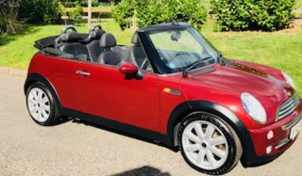 Rosie has chosen this 2008 MINI Cooper Convertible in Nightfire Red – Just Serviced & Look how colour changes in the light