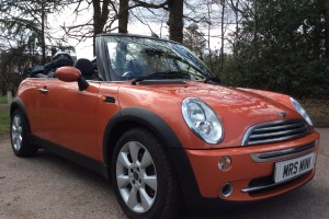 2006 MINI Cooper Convertible in Orange with Full Leather Heated Seats