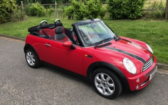 2007 / 57 MINI Cooper Convertible in Chili Red inside & out! With Chili Pack & so much more