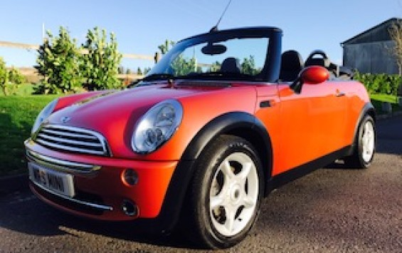 2006 MINI Cooper Convertible in Hot Orange with FULL SERVICE HISTORY