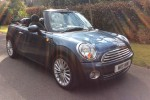 WE HAVE TWO OF THESE – ALMOST IDENTICAL 2009 MINI Cooper Chili Pack Convertible in Blue with Black Hood & Lounge Leather & Blutooth