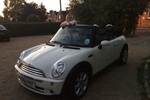 Polly asked us to find her a MINI Cooper Convertible in Pepper White