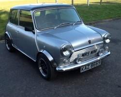 ALFIE'S DREAM CAR – & now its on his drive!  Classic Mini Equinox – A Limited Edition with only 750 every made