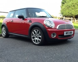 Moira is collecting her MINI on Sunday – 2007 / 57 MINI COOPER CHILI & VISIBILITY PACKS & PANORAMIC GLASS SUNROOF WITH MATCHING HALF RED LEATHER SPORTS SEATS