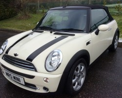 Yasmine chose this 2008 MINI Cooper Convertible Chili Pack in Pepper White