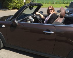 Helen has taken this one home with her & its now called Marmite –  2011 Hot Chocolate MINI Cooper Convertible with shed loads of extras