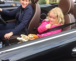 Sarah & her beautiful navigator took this MINI back to Birmingham with them on Saturday….  2010 MINI Cooper Convertible in Black with Full Lounge Leather 28K miles