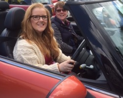 Hannah is going to take this MINI to Somerset to live…. we've been calling her Marmalade…  2006 MINI Cooper Convertible in Orange with Full Leather Heated Seats