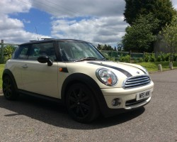 Natasha has chosen this – 2009 MINI Cooper Chili in Pepper White with Lounge Leather & Panoramic Sunroof Chili Pack Cruise
