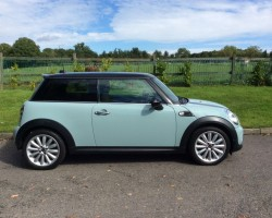 This is going to be some lucky person's Christmas Present!!   2011 / 61 MINI Cooper Avenue with Chili Pack Cruise Bluetooth in Duck Egg/Ice Blue