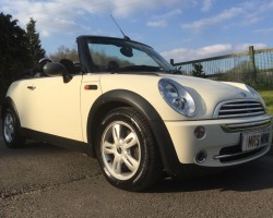 Alison has chosen this 2008 MINI One Convertible in Pepper White with Pepper Pack – VALUE