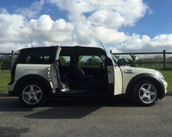 Eleanor chose this 2007 / 57 MINI Cooper Clubman with Chili Pack in Pepper White with Double Glass Panoramic Electric Sunroof & Bluetooth
