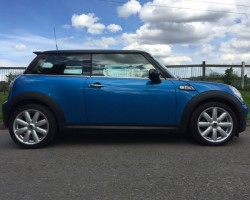 Josh is having this 2009 / 59 MINI Cooper S Chili Pack in Lazer Blue with Low Miles
