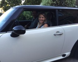 Kate has chosen to upgrade her Park Lane MINI to this 2008 / 58  MINI COOEPR S AUTOMATIC  in Pepper White with Sunroof, Full Lounge Leather LOW MILES 28K & both Chili & Visibility Packs