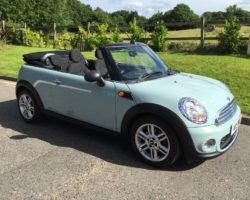 Welcome back to this 2013 MINI One Convertible 1.6 Ice Blue