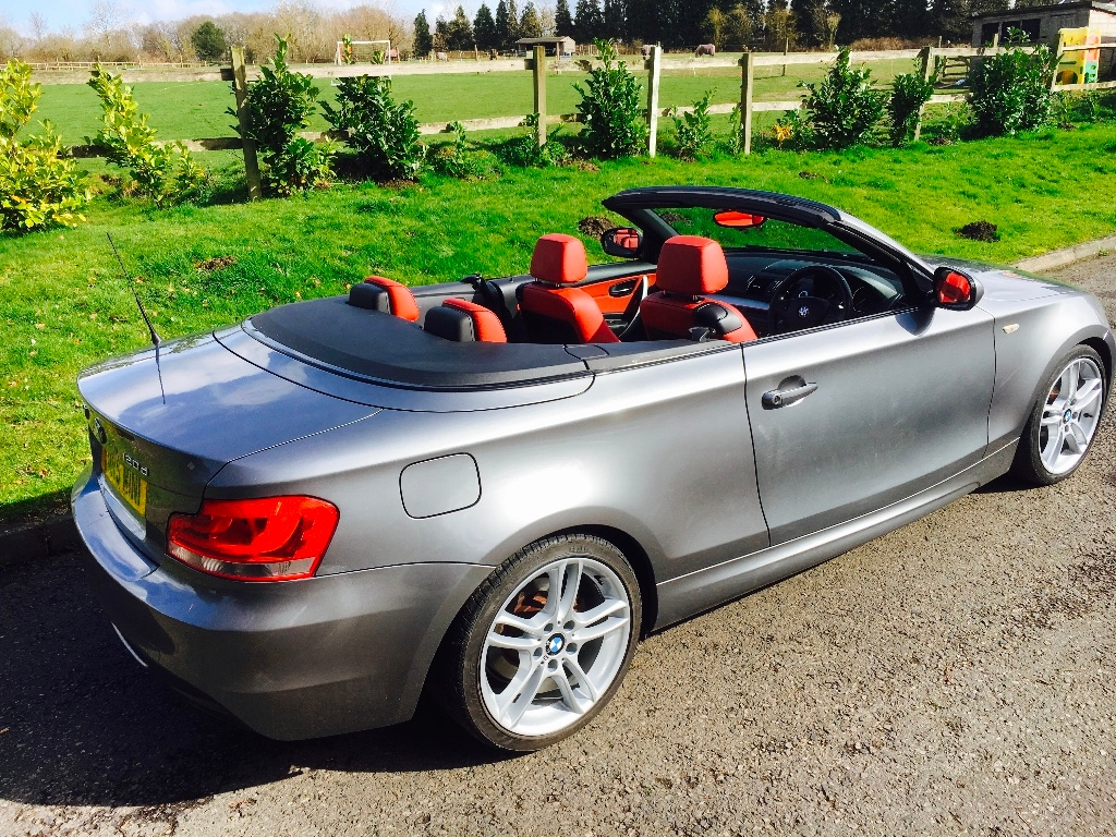 Melissa Chose This 2011bmw 1 Series 2 0 120d M Sport Convertible With Full Red Leather Interior Mrs Mini Used Mini Cars For Sale