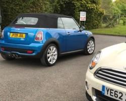 Paul has chosen this 2009 MINI Convertible Cooper S Laser Blue Metallic With Full MINI Service History