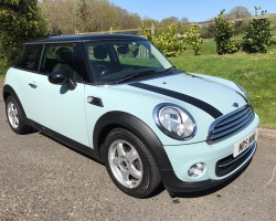 Mark & Karen have chosen this 2011 MINI Cooper 1.6 Ice Blue Pepper Pack With Heated Seats & Bluetooth