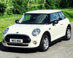 SOLD as David & Faye chose this 2015 MINI One (Media XL pack) 1.2 Automatic in Pepper White with 6500 Miles (start/stop) (112 g/km, 102 bhp)