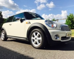 Danni chose this 2010 MINI One In Pepper White with Pepper Pack & Visibility Pack 1 Owner & only 30K miles